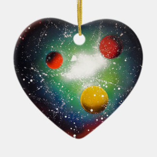 Spray Paint Art Space Galaxy Painting Christmas Ornament