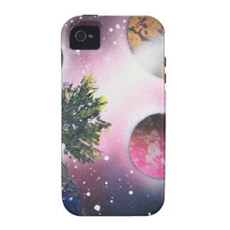 Spray Paint Art Space Landscape Painting Vibe iPhone 4 Case