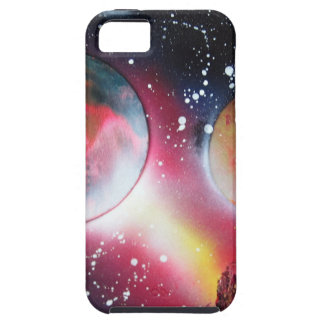 Spray Paint Art Space Landscape Painting iPhone 5 Covers