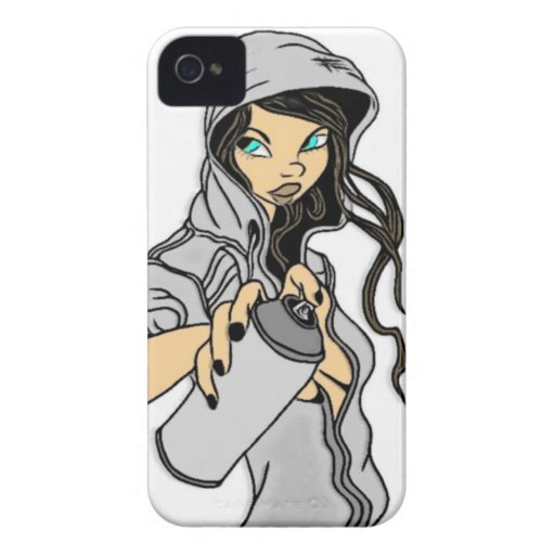 Spray Paint Pinup iPhone 4 Case