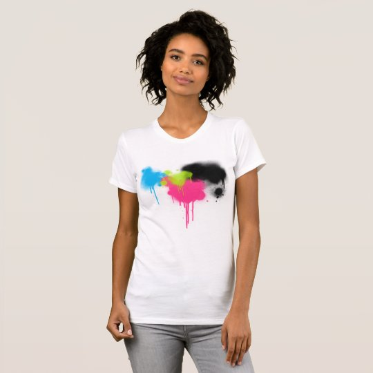 Spray Paint Splatter Multi Colour Women's T-Shirt
