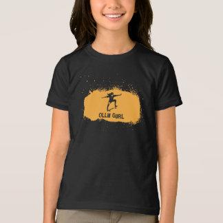 Spray Paint Style Skateboarding T-shirt. Orange T-Shirt