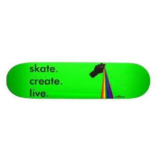 Spray Paint The Rainbow Skateboard Deck