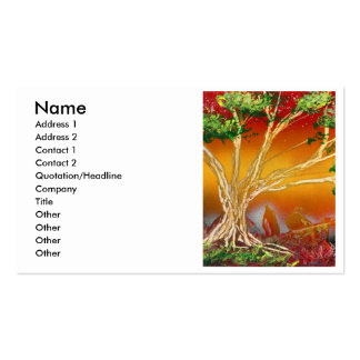 Spray Paint Tree against Red Orange & Back v1 Pack Of Standard Business Cards