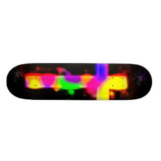 Spray Painted Cross Deck Skate Deck