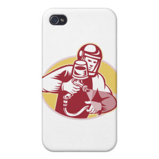 Spray Painter Spraying Paint Retro Case For iPhone 4