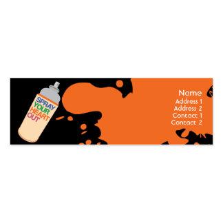 Spray - Skinny Business Card Templates