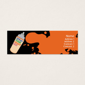 Spray - Skinny Mini Business Card