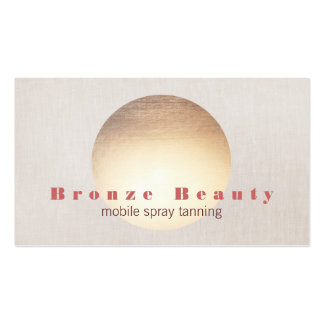 Spray Tanning Gold and Linen Look Business Card