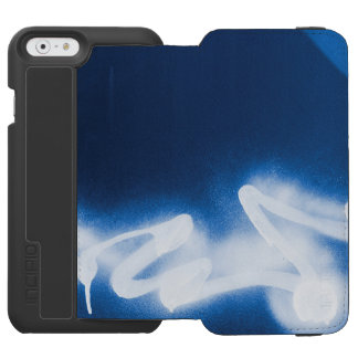 Sprayed graffiti on blue metal incipio watson™ iPhone 6 wallet case