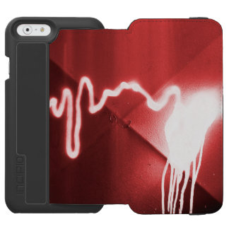 Sprayed graffiti on red metal incipio watson™ iPhone 6 wallet case