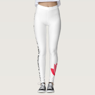 spread a meaningful message while you do sport! leggings