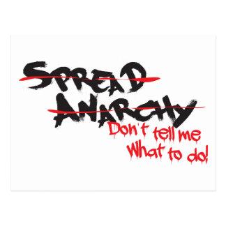 Spread Anarchy! Postcard