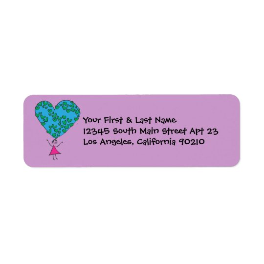 Spread Love Around The World Peace On Earth Return Address Label