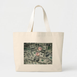 Spread of Money & Two Cents Tote Bags
