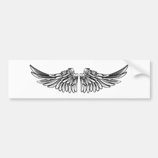 Spread Pair of Angel or Eagle Wings Bumper Sticker