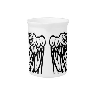 Spread Pair of Angel or Eagle Wings Drink Pitcher