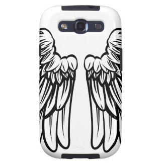 Spread Pair of Angel or Eagle Wings Samsung Galaxy SIII Case