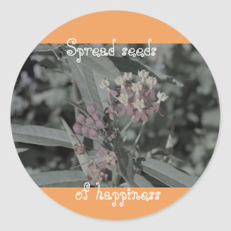 Spread seeds of happiness stickers