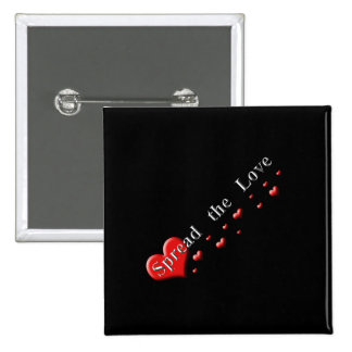 Spread the Love 15 Cm Square Badge