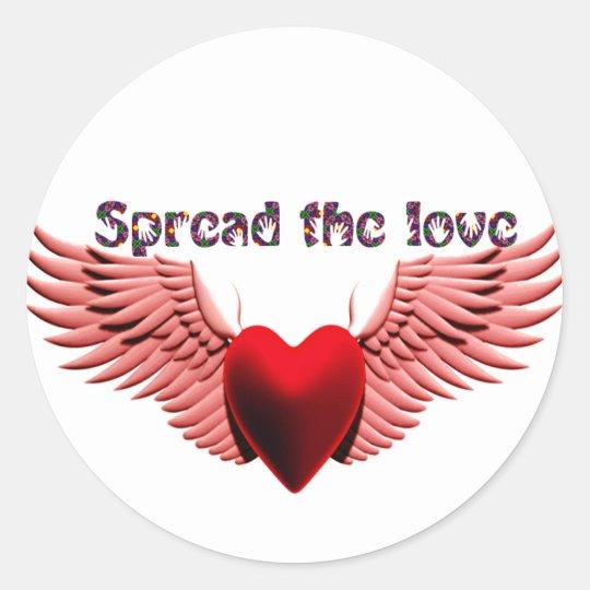 Spread the Love (2)_ Classic Round Sticker