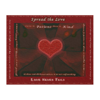 Spread the Love 8x10 Wood Wood Wall Art