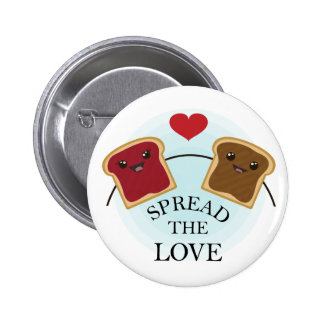 SPREAD THE LOVE 6 CM ROUND BADGE