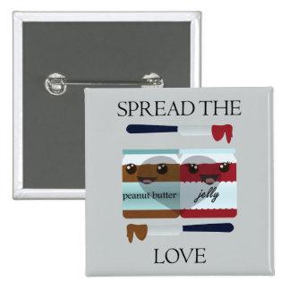 SPREAD THE LOVE JAR 15 CM SQUARE BADGE