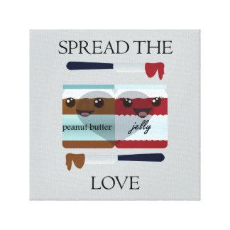 SPREAD THE LOVE JAR GALLERY WRAP CANVAS