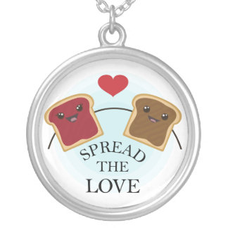 SPREAD THE LOVE ROUND PENDANT NECKLACE