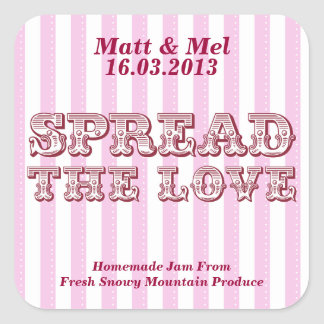 Spread the Love Personalized Favor Stickers