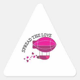 Spread the Love Triangle Sticker