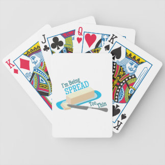 Spread Too Thin Playing Cards