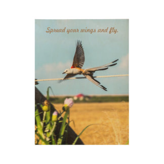 Spread your wings and fly - Wood Wall Poster Wood Poster