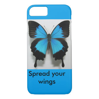 spread your wings blue butterfly iphone case