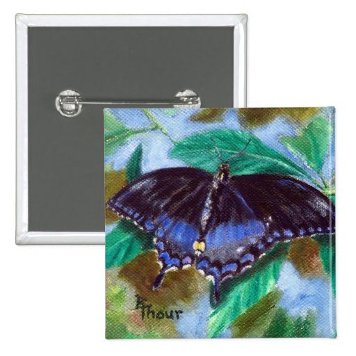 Spread Your Wings Butterfly Button