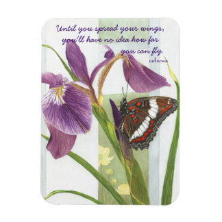 Spread Your Wings - Purple Iris & Butterfly Magnet