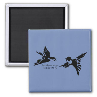 Spread Your Wings Square Magnet