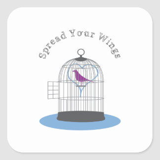 Spread Your Wings Square Stickers