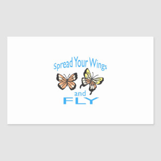 SPREAD YOUR WINGS RECTANGLE STICKER