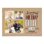 Spreading Cheer Holiday Photo Card Personalized Announcements