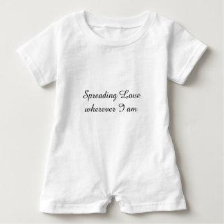 Spreading Love Wherever I Am, Text, Baby Romper Baby Bodysuit