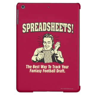 Spreadsheets: Track Your Fantasy Football Draft iPad Air Cover