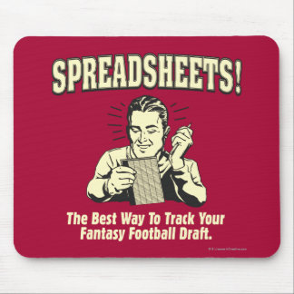 Spreadsheets: Track Your Fantasy Football Draft Mouse Mat