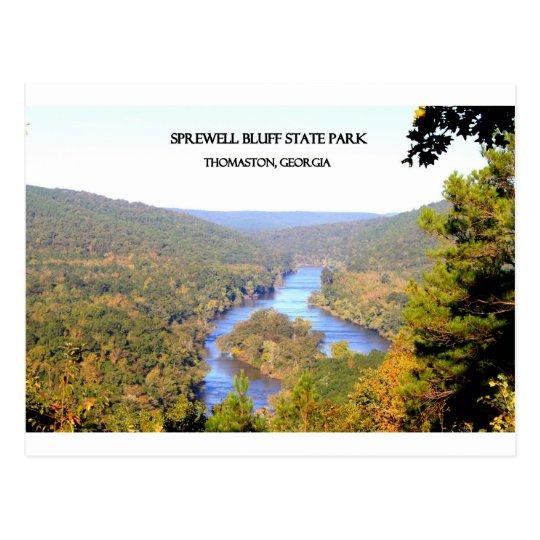 SPREWELL BLUFF STATE PARK - Thomaston, Georgia Postcard
