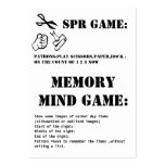 sprgame and memory mind game business cards