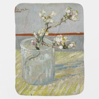 Sprig of Flowering Almond in a Glass by Van Gogh Pramblankets