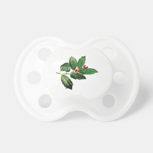 Sprig of Holly Pacifier
