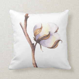 Sprig of soft cotton cushion