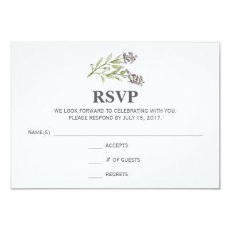 Sprig RSVP Card Any Color Background